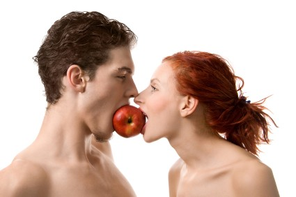 Healthy eaters in love.